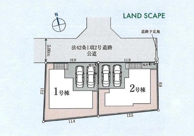 【区画図】東大和市芋窪4丁目 新築戸建て 全2棟 2号棟~洋風和室のある4LDK~