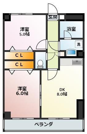 2DKのお部屋です!