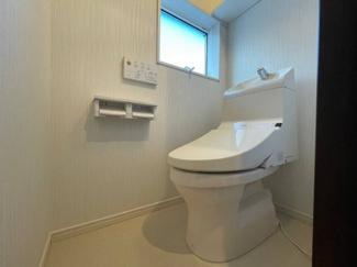 通気性の良いトイレです。ゆとりの広さを確保しています。