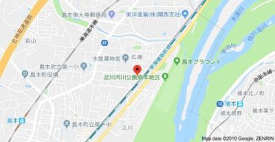 【地図】門之内マンション2号棟
