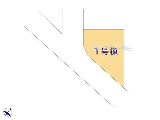 【区画図】川口市戸塚鋏町13-16(1号棟)新築一戸建てブルーミングガーデン