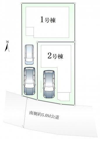 【区画図】足立区江北2丁目 全2棟 2号棟