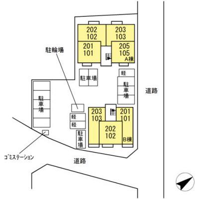 【区画図】SOLEADO B棟