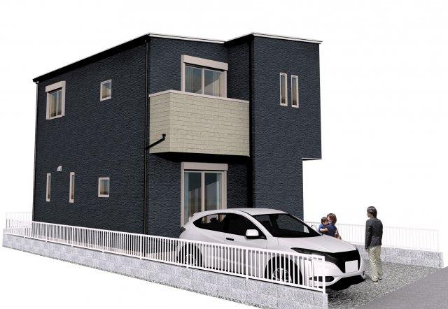 完成時のイメージパースです。並列2台駐車可能です。