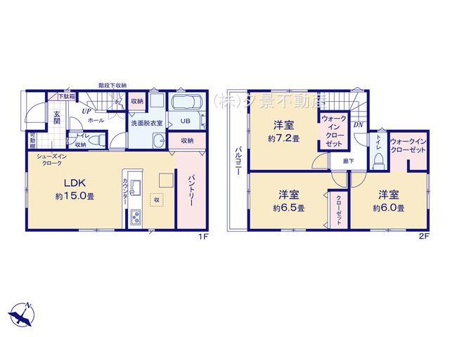 【区画図】中央区八王子2丁目575-12(2号棟)新築一戸建てリナージュ