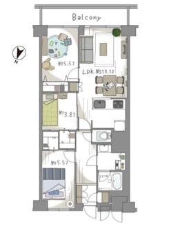 新規内装リノベーション済、2階のペットOKなお部屋です