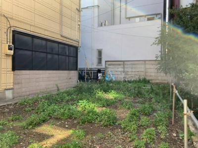 建物プランの入れやすい整形地(2021.10.2撮影)。