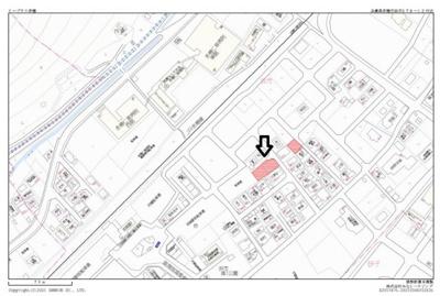 【地図】築2年!最寄り駅約4分の一棟収益アパート