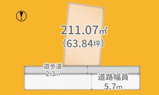 【土地図】宇治市宇治弐番 売土地 建築条件なし