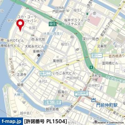 【地図】クレヴィスタ門前仲町グラン
