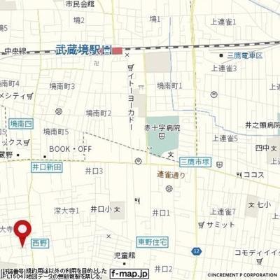 【地図】メゾン大野Ⅲ