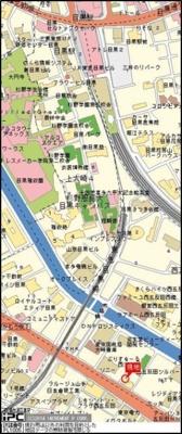 【地図】ヴェルト目黒西