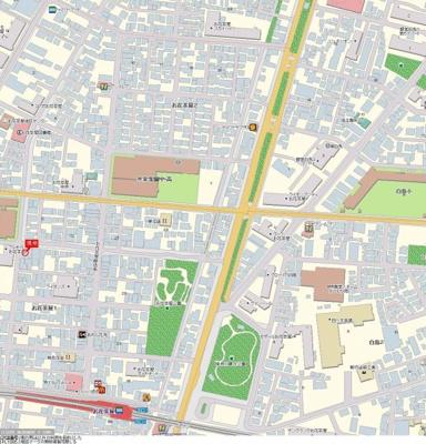 【地図】ナイスアーバンお花茶屋駅前通り