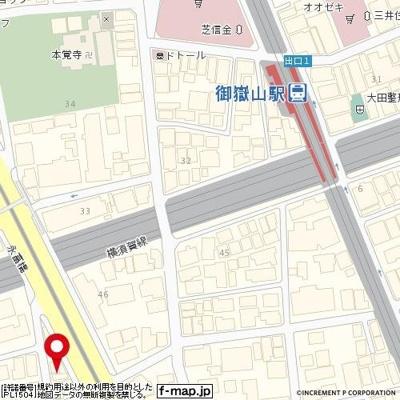 【地図】ルーブル田園調布南