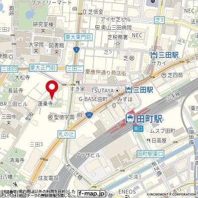 【地図】マートルコート三田