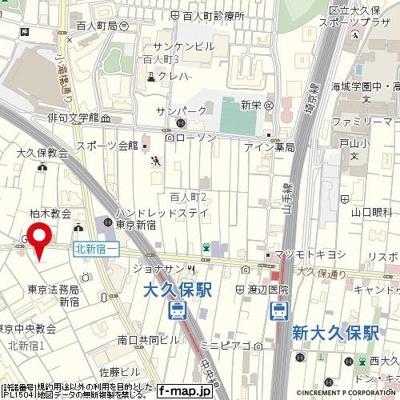 【地図】メトリブ新宿