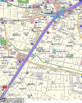 【地図】ライオンズマンシヨン三軒茶屋第6
