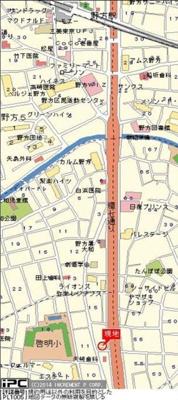 【地図】エスコート中野大和町