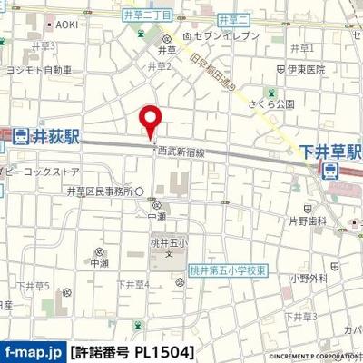 【地図】セザール下井草