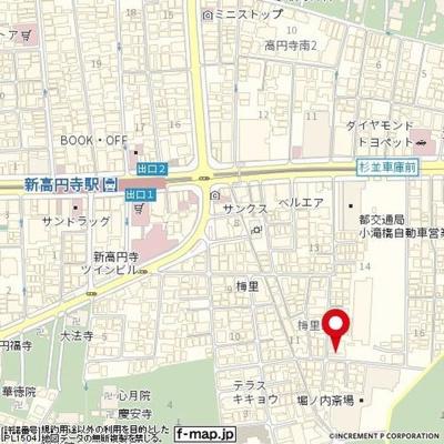 【地図】日神パレス新高円寺第二