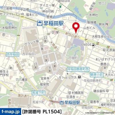 【地図】パークウェル早稲田弐番館