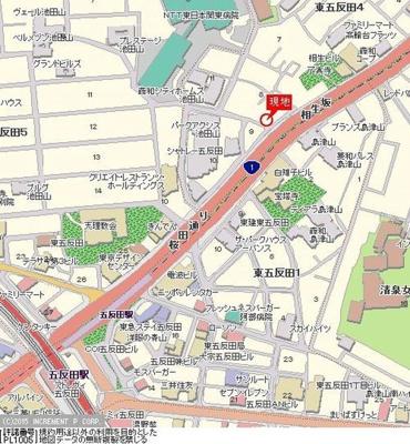【地図】菱和パレス高輪台