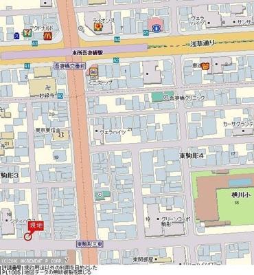 【地図】アランシア本所吾妻橋