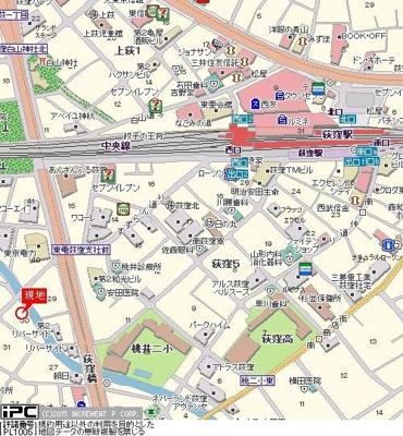 【地図】ダイホープラザ荻窪