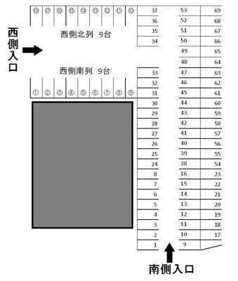 【区画図】九の城町駐車場Y