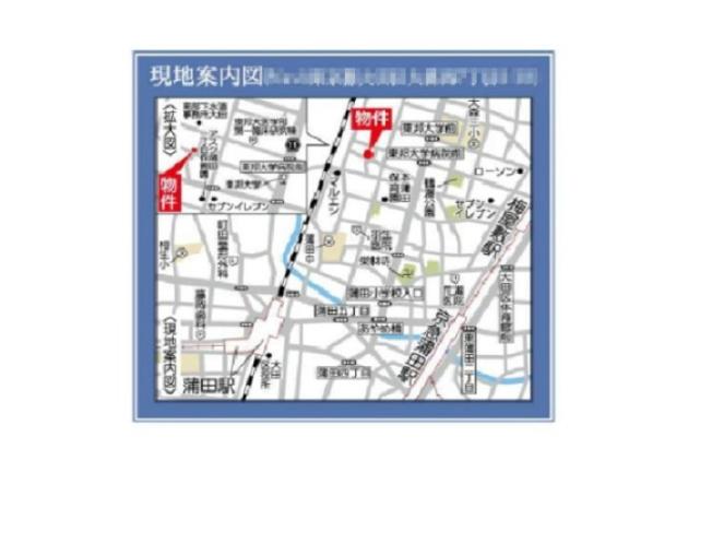 【地図】大森西7丁目