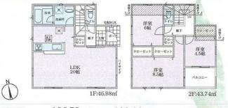 【間取り】寒川町小谷2丁目 新築戸建 全6棟2号棟