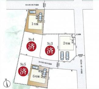 【区画図】寒川町小谷2丁目 新築戸建 全6棟1号棟