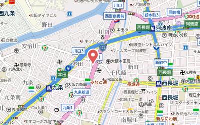 【地図】ウエンズ阿波座西