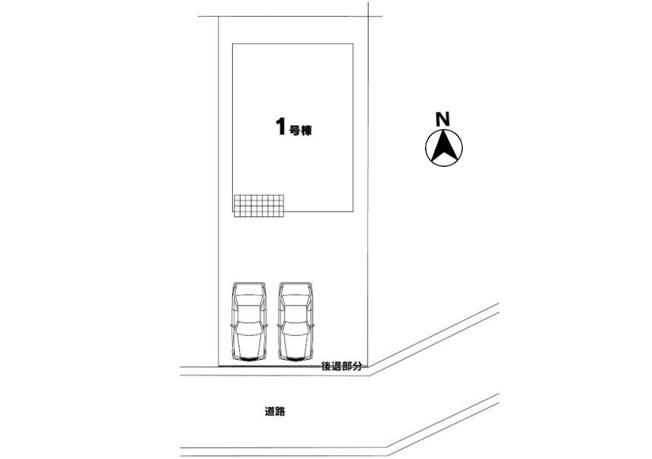 【区画図】小平市栄町3丁目 新築戸建て~駐車並列3台可能~