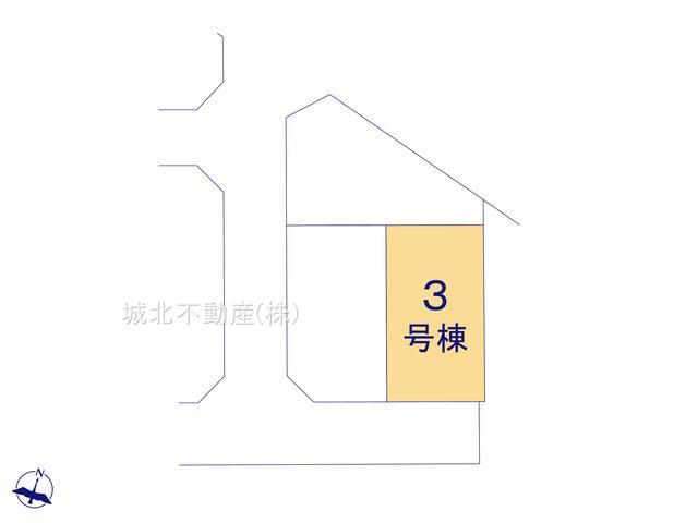 【区画図】練馬区大泉学園町1丁目 全4棟 3号棟