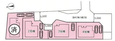 【区画図】新築 京王相模原線 多摩境駅 町田市 小山町