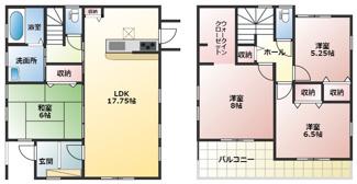 碧南市伊勢町Ⅱ新築分譲住宅1号棟間取りです。