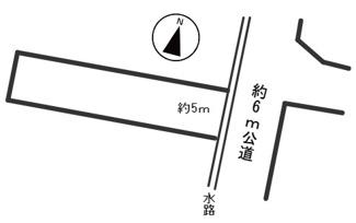 【区画図】54932 本巣郡北方町芝原西町土地