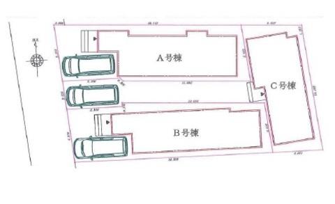 【区画図】仲介手数料無料 練馬区谷原2丁目新築一戸建て