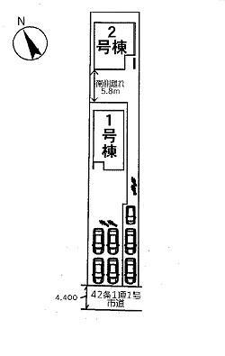 【区画図】加須市南町 新築一戸建て 全2棟1/2