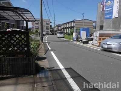 高浜市向山町1丁目新築分譲住宅前面道路写真です。南側公道約6.0mに接道