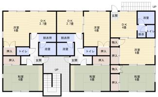 【間取り】《木造12.86%》群馬県桐生市元宿町3棟一括売アパート