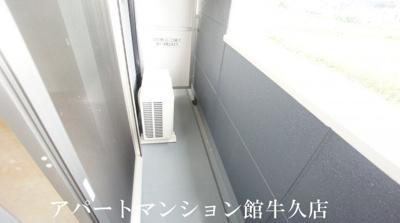 【バルコニー】土浦市下高津新築アパート(仮)