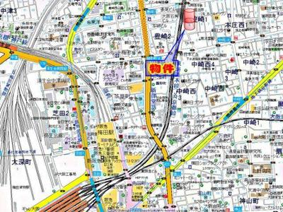 【地図】セレニテ梅田北プレミアム
