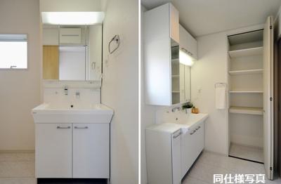 同仕様建物の洗面所。カラーは異なることがございます。