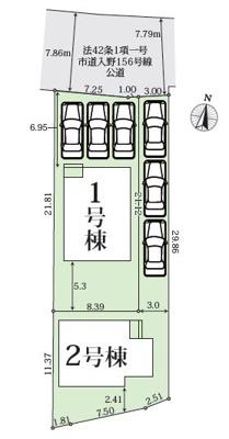 【区画図】浜松市西区入野町 新築一戸建て 1号棟 TK
