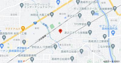 【地図】東五百住町1丁4戸1貸家 (株)Roots