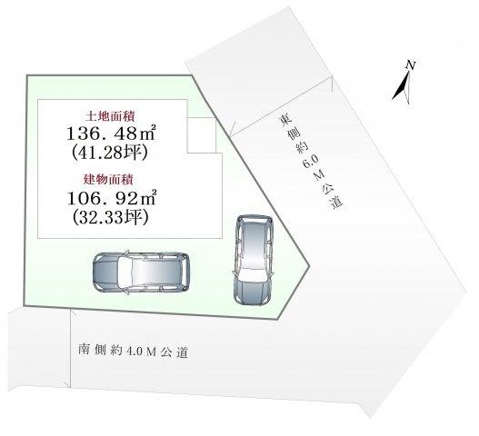 【区画図】板橋区大谷口1丁目 限定1棟