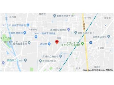 【地図】プレアール西冠1