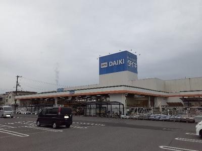 ダイキ川之江店様まで1000m